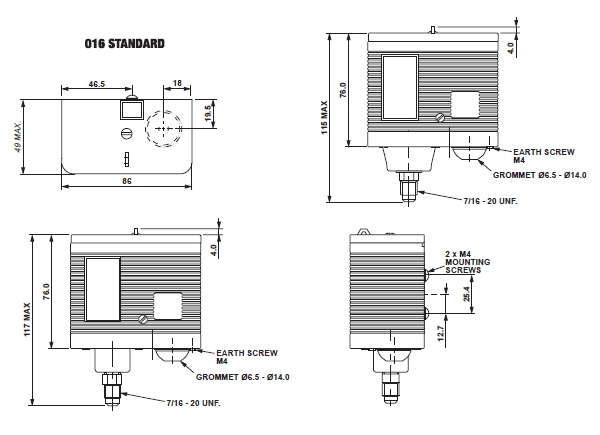 016 pressure switch ranco 016 h6703 shop ranco pressure control wiring diagram at n-0.co