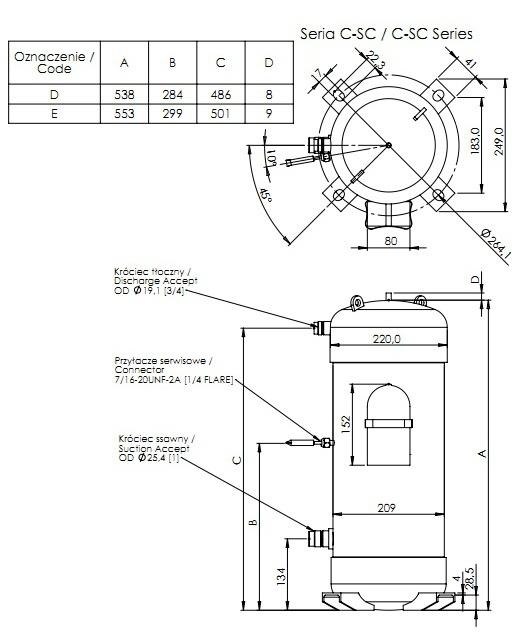 Compressor Sanyo Panasonic C Scn603h8k