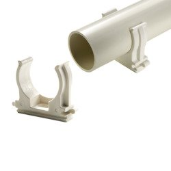 Mounting bracket for PVC pipes