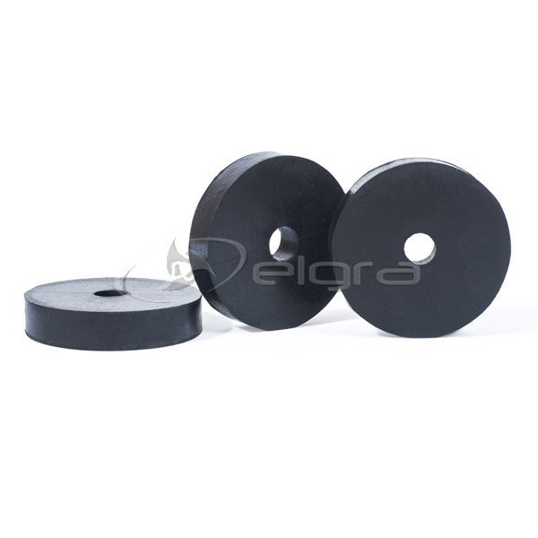 Rubber shock absorber pad