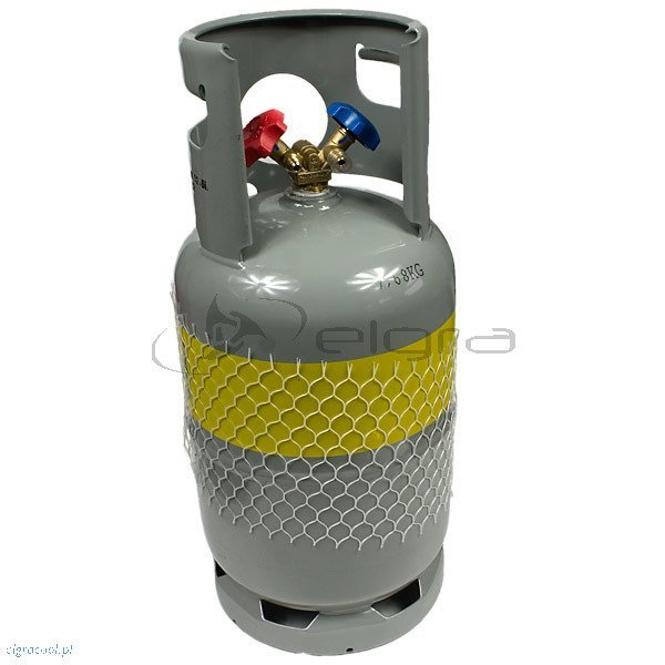 Two-valve cylinder for recovery of refrigerants 27 kg